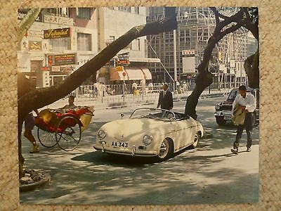 1964 Porsche 356-A Speedster Showroom Advertising Sales Poster RARE Awesome L@@K