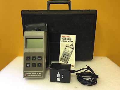 Laser Precision Corp. AM-3500 820 to 1550 nm Optical Power Meter. Tested!