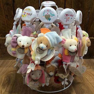Doudou et Compagnie Baby Plush Animal Soother/Dummy Holder Clip - New Baby Gift