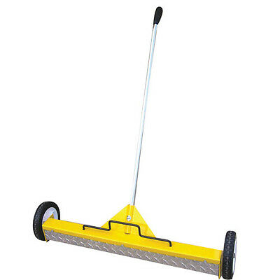 "22"" Extra Heavy Duty Magnetic Floor Sweeper on Wheels on wheels with treadplate"