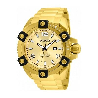 Invicta Reserve Stainless Steel Gold Band Metal Gold Automatic Men's Watch 26482