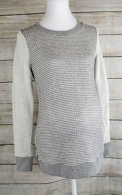 Liz Lange Maternity Sweater Long Sleeve Textured Top Tunic Pullover Gray XS