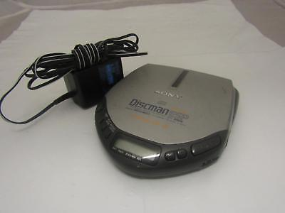 SONY Discman ESP CD Player D-E301 Electronic Shock Protection MEGA BASS Tested