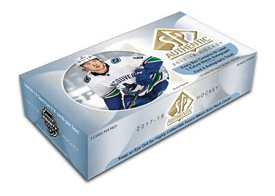 2017-18 Upper Deck SP Authentic Hockey Hobby Box New/Sealed