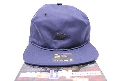 2408c177b2c30 Nike Air Sportswear Vapor Pro Tech Navy Blue Adjustable Strapback Cap Hat  New