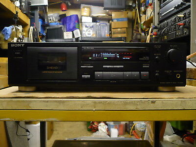 Sony TC-K490 3 Head Stereo Cassette Deck (Good Condition, Just Serviced)