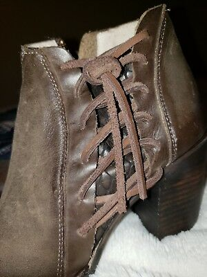 7c26b56fb6a FREEBIRD BY STEVEN Brook Leather Ankle Boot Bootie * Size 7