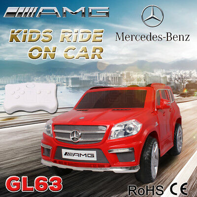 BIG SALE Official Licensed Mercedes-Benz GL63 AMG Kids Ride on Car Remote Gifts
