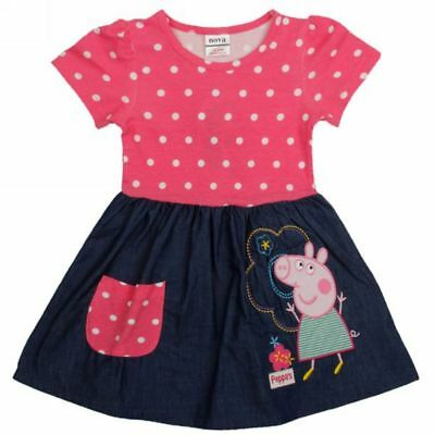 NWT Girls Peppa Pig Pink Polka Dot Pocket Birthday Party Dress 18/24M