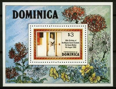Dominica # 678 Souvenir Sheet - 80th Burthday of the Queen Mother