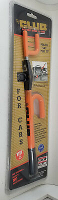 The Original Club For Cars Anti-Theft Device - ORANGE - SEALED! NEW! Model 1030T