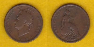 Great Britain Copper Penny 1825 George Iv  ---  Gbei