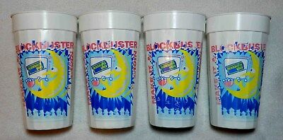Set of Four MAKE IT A BLOCKBUSTER NIGHT Video 21oz Cup Tumbler Sterling Products