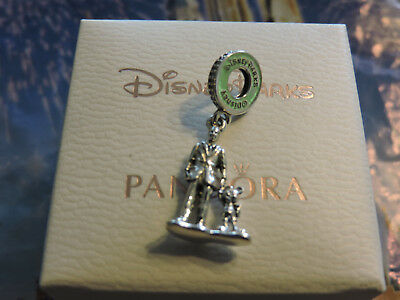 Disney 2018 Exclusive Pandora Charm Walt And Mickey Limited Edition New Sold Out
