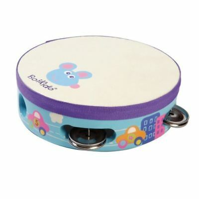 Wooden Boikido Kids Musical Toy Tambourine Car Design