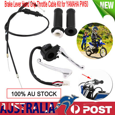 Brake Lever Hand Grip Throttle Cable Kit for YAMAHA PW50 PY50 Black