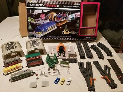 Power Trains AUTO LOADER CITY Motorized Train Set - 5 CARS -  Incomplete