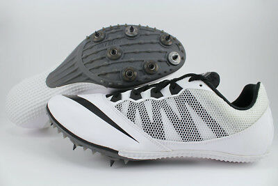 premium selection 6caf6 0b70b Nike Zoom Rival S 7 White black Track   Field Spikes Sprints Running Us Men