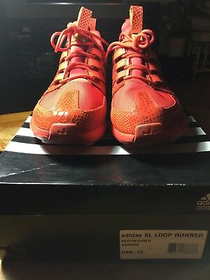 free shipping 991fb 738d2 Adidas Sl Loop Runner Tr Red Reptile S85682 Size 13