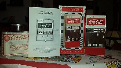 Coca Cola Die Cast Metal Collectable Vending Machine Musical Bank from 1996