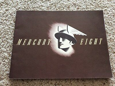 1941 mercury original dealership showroom deluxe color sales catalogue