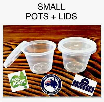 "PACKAGING~PLASTIC ""POT/PODS"" with LID (20-25ml)~SOY TARTS/MINI BATH/SHOWER BOMBS"