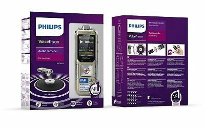 PHILIPS DVT8010 Voice Tracer Audio Recorder Remote Control Gold New