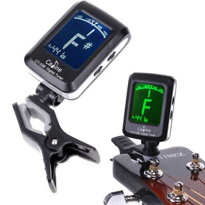 Digital Clip-on LCD Guitar Tuner Métronome Accordeur pour Guitare Violin Ukulélé