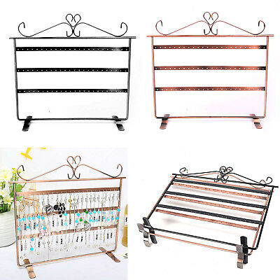 72 Holes Earring Jewelry Necklace Display Rack Metal Stand Holder Organizer AU