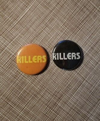 """THE KILLERS 2004 Tour 1"""" Pinbacks Badge Button Pin LOT OF TWO"""