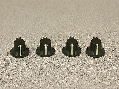 """4pcs Aluminum Military Style Knobs w/Glow In The Dark Index Line 1/8th"""" Shaft"""