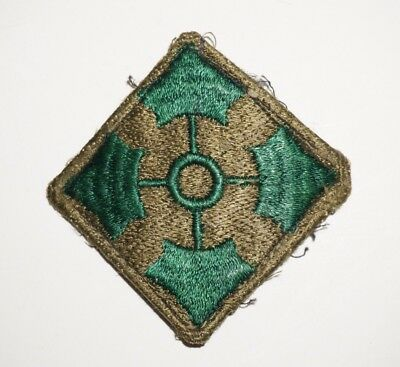 4th Infantry Division Patch Modified WWII US Army P7082