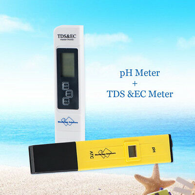 Electric pH Meter+TDS Tester Pool Hydroponic Spa Aquarium Water Quality Test Pen