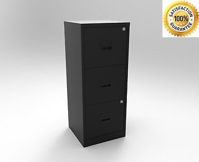 Bisley A4 3 Drawer Metal Filing Cabinet Office Files Documents Filing Storage