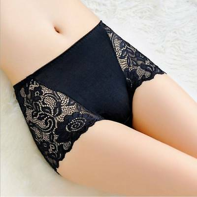 Women Lady Lace Underwear Boxer Shorts High Waist Panties Briefs Knickers