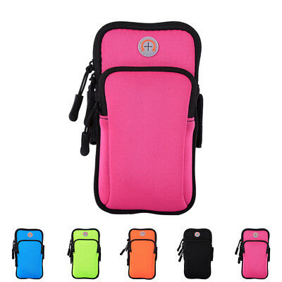 Universal Sport Running Arm Band Case For Cell Phone Holder Zipper Bag GYM AU