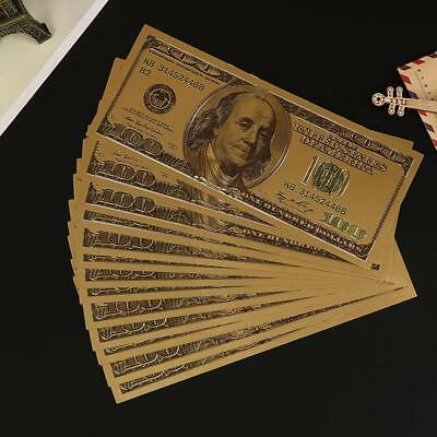 USA Banknote 100 Dollar Bills Bank Note Gold Foil Fake Currency Paper Money SELL