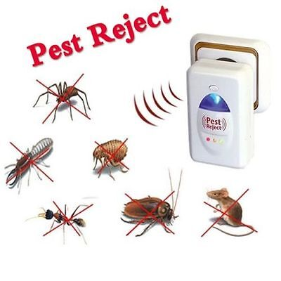 Ultrasonic Ionic Electronic Rat Mice Spider Insect Pest Repeller Deterrent Usedみ