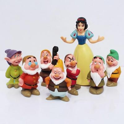 5-9cm 8 pcs Snow White and the Seven Dwarfs Figures Loose Toys Cake Topper へみ