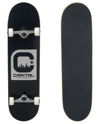 """Capital Complete Skateboard - Iconic Black Silver 8.25"""""""