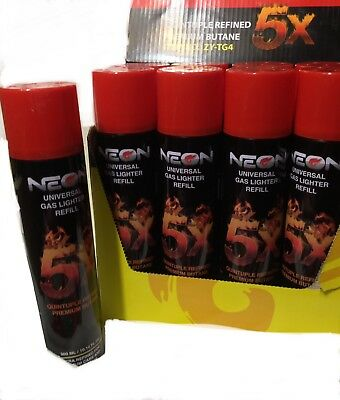 Neon 5X Refined Butane Universal Can Gas Lighter Refill 300ml Formerly Tattoo