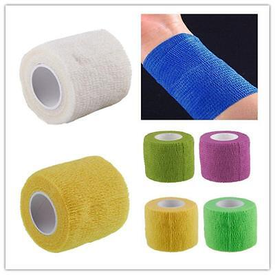 1 Roll Waterproof Self Adhesive Bandage Tape Finger Joints Wrap Sports Care h23み