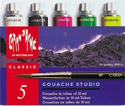Caran d'Ache Gouache Studio 10ml Tube | Set of 5 Assorted Colours