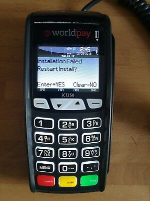 Ingenico iCT250 POS terminal CARD READER CHIP AND PIN  IKI7 World pay