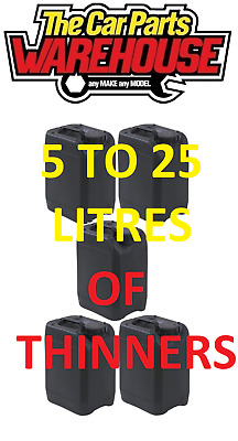 5 TO 25L LITRES Standard Thinners Gun Wash Parts Cleaner Paint Thinner Cellulose