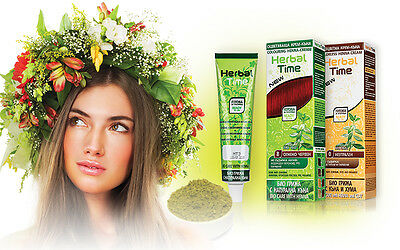 Natural Herbal Time Henna Coloring Cream Hair Colorant Dye Ready To Use