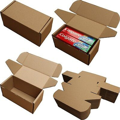 "8x4x4"" SHIPPING STORAGE BOXES CARDBOARD POSTAL MAILING GIFT PACKET SMALL PARCEL"