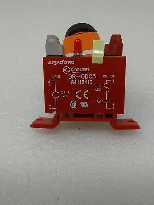 CRYDOM DR-ODC5 Input//Output Relay,3A,DIN Rail,Red
