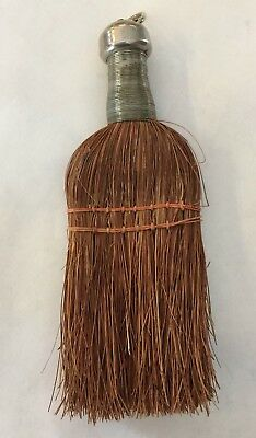 "Antique Primitive Vintage Old Farmhouse Cabin Hand Whisk Broom 7 1/2"" x 3"