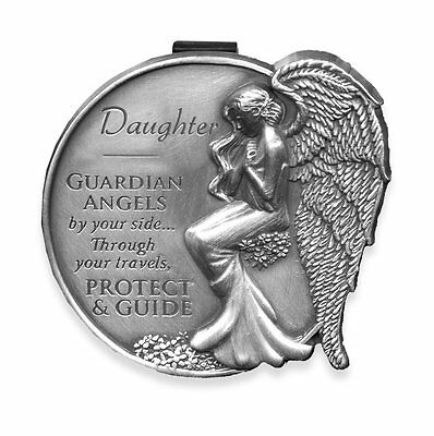 Daughter Guardian Angel Visor Clip NEW 2.5 Inches 15682